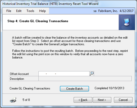 STEP4 Create GL Clearing Transactions