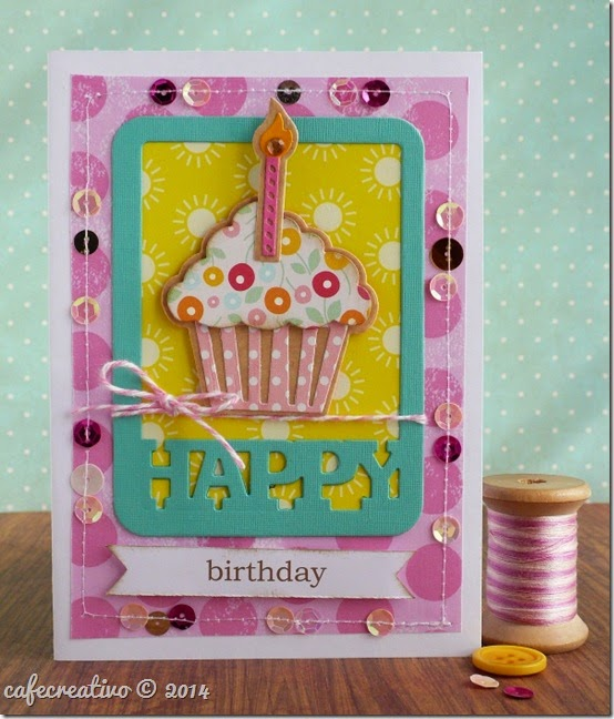 cafe creativo - big shot sizzix - cupcake card (1)