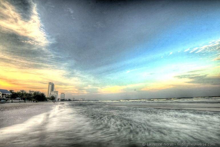 Sunset Hua Hin beach Thailand