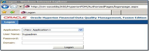 Hyperion Practice: FDM - Interface to load data into Essbase