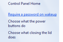 Prompt for a password when your computer wakes or resumes from sleep