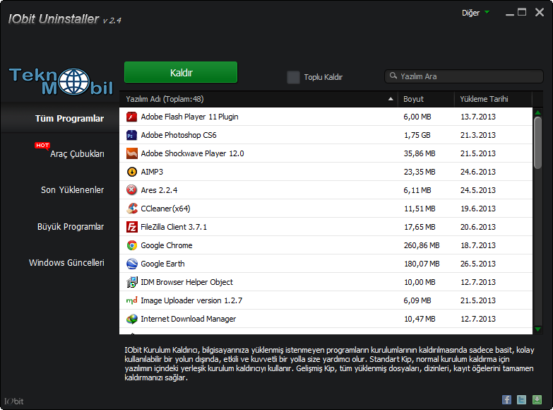 IObit Uninstaller Pro v6.4.0.2118 Full İndir