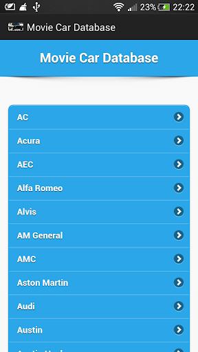Movie Car Database