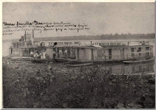 Webster Dental & Photo Boats 1896 to1902 at Lake Charles Louisiana