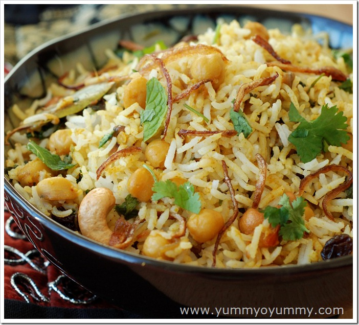 White chana biriyani