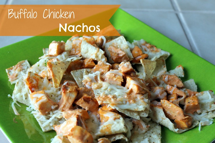 Simple Buffalo Chicken Nachos...perfect for the big game!
