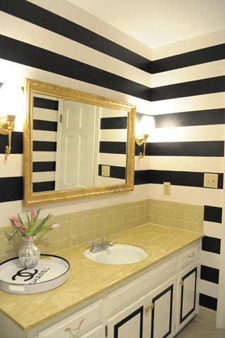 black white red bathroom lemondrop dreams before after bath 17441