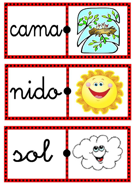 Domino De Palabras Para Imprimir Domino De Palabras