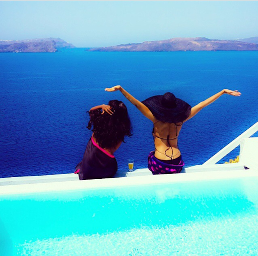 PHOTOS: Sylvia Nduka And Ene Maya's Vacation in Santorini Greece 9