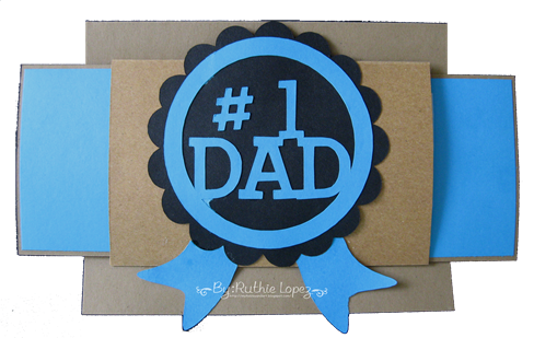 #1 Dad card - Tutorial Jardin de Ideas - Retos Abby - Ruthie Lopez 3