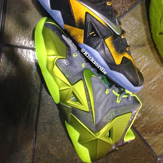quality design 18279 7af2c ... Unseen Nike LeBron XI 11 8220Dunkman8221 Player Exclusive ...