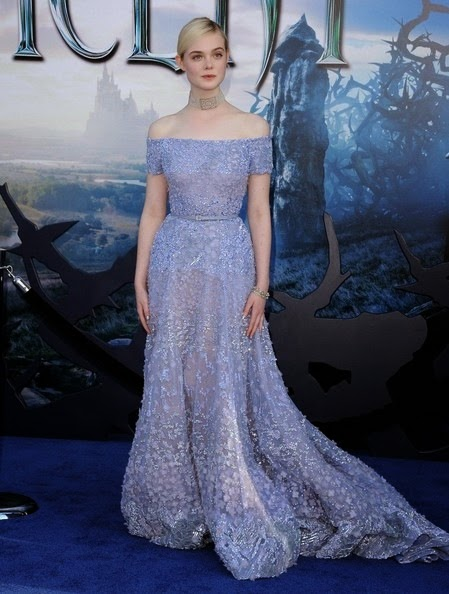 Elle Fanning Maleficent Premieres Hollywood