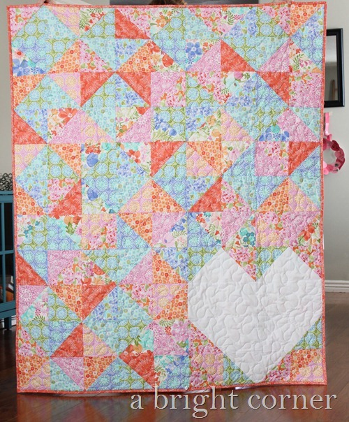 Sweet Talk quilt pattern using Honey Honey by Moda