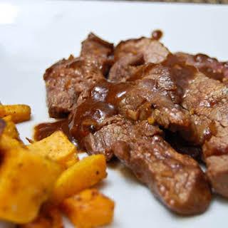 Korean Flank Steak w/ Roasted Sweet Potatoes.