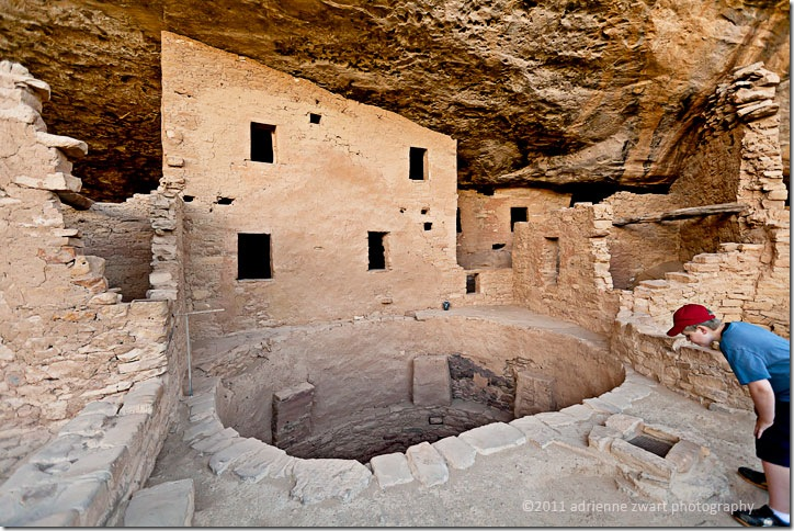 cliff dwelling at Mesa Verde National Park - adrienneinohio.blogspot.com