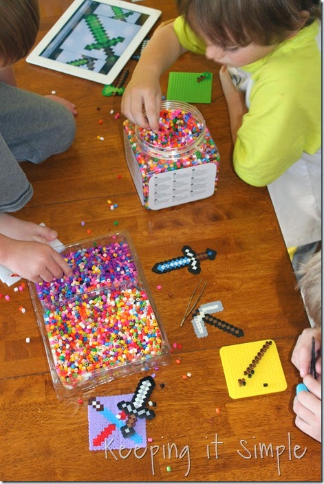 Minecraft-melty-beads #kidscraft #minecraft (3)