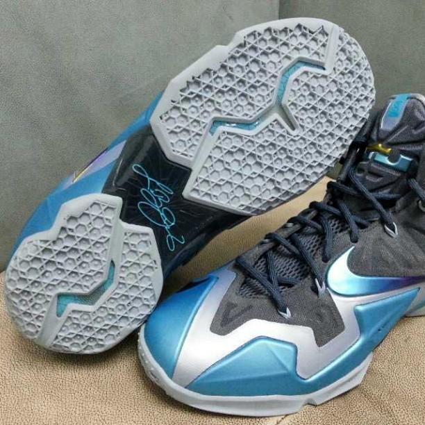 buy online 5feb4 59675 Hot Sale Nike Lebron 11 Cheap sale 2013 Gamma Blue Armory Slate
