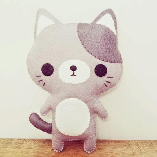 Little Happy Stitches Kitten Plushie | Lavender & Twill