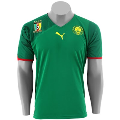 Camisa Oficial da Seleção de Camarões c46b1803e4789