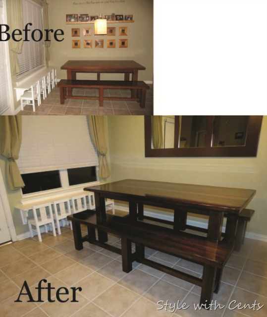 Refinish Kitchen Table: {Style With Cents}: Refinishing A Kitchen Table