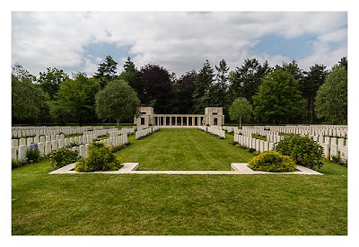 Geocaching in Flandern - The Great War Event - Soldatenfriedhof im Polygonwald