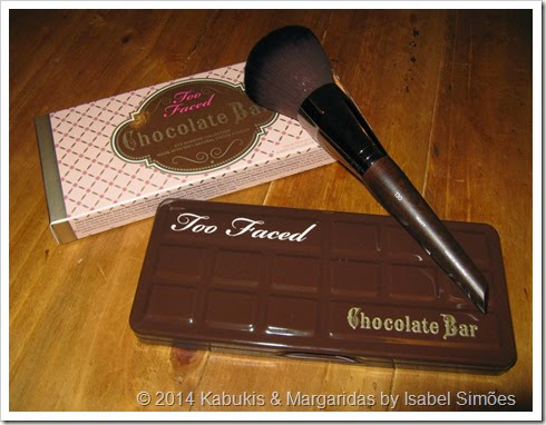 Chocolate Bar and Powder Brush