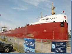 8450 Thorold -  Welland Canals Parkway - Thunder Bay lake freighter leaving Lock 6