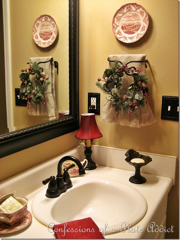 Confessions of a plate addict first time ever my french - How to decorate a guest bathroom ...
