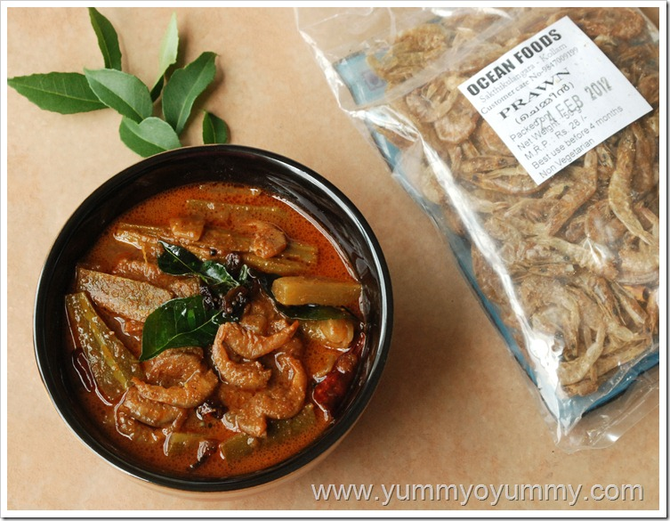 Dried prawns in a roasted coconut sauce