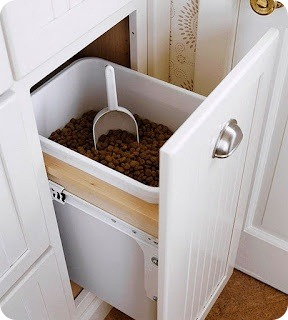 built in food drawer