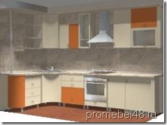 проект кухни с гнутыми фасадами
