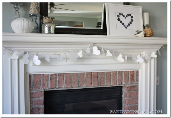 Valentine Craft - Paper Heart Banner