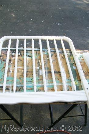 My Repurposed Life & Repurposed Crib into Plate Rack - My Repurposed Life®