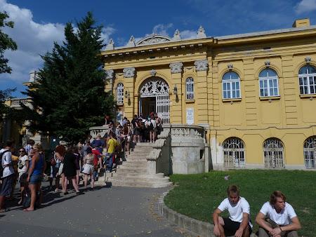 Bai termale Ungaria: intrarea in Baile Szecheny
