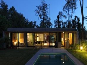 fachada moderna casa de hormigon