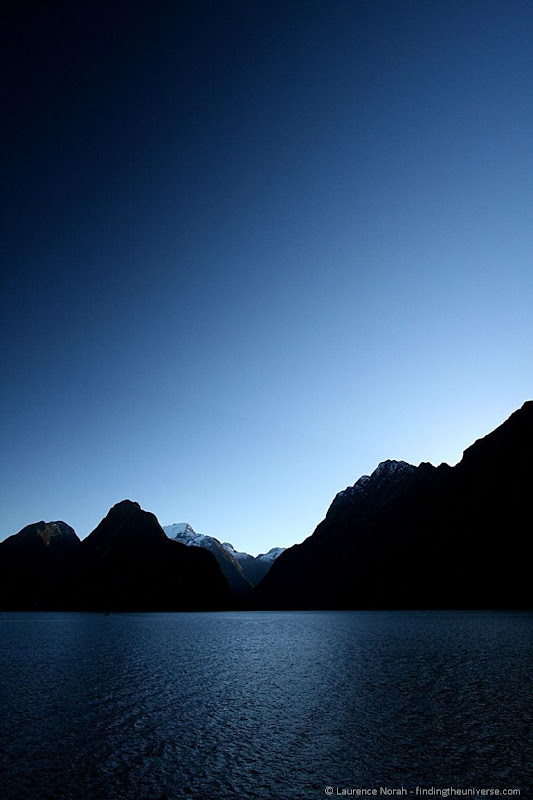 South Island New Zealand - Milford sound silhouette