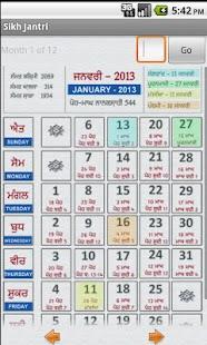 NanakShahi Calendar-Jantri2013 screenshot