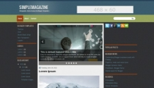 Simplemagazine blogger template 225x128