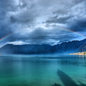 Rainbow by Zoran Nikolic - Landscapes Cloud Formations ( water, colour, clouds, weather, rainbow,  )