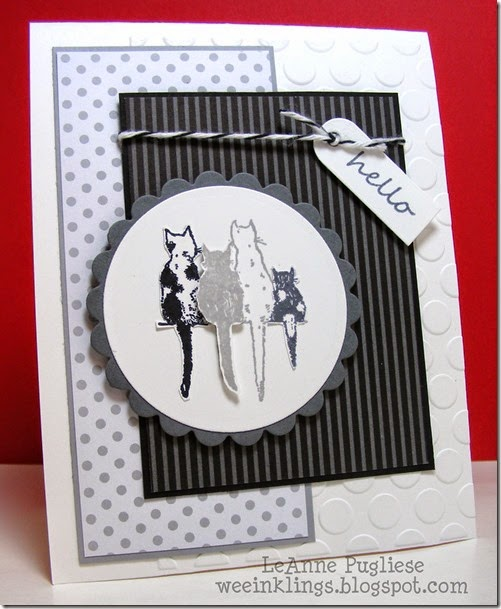 LeAnne Pugliese WeeInklings Four Kitties Stampin Hello