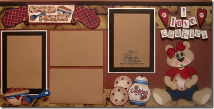 cricut cookie bear layout idea paper piecing girl-500