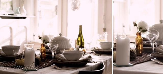 Fall Polkadot Table Setting 2