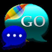 GO SMS Cyan Cobalt Theme