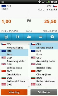 Kurzy měn: Kalkulačka- screenshot thumbnail