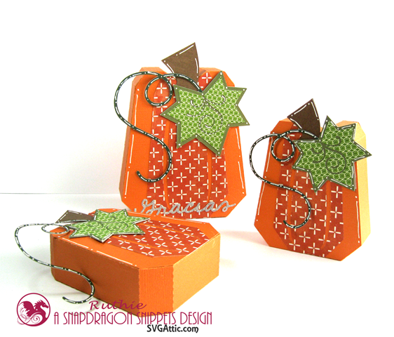 Pumpkin box - SnapDragron Snippets - Ruthie Lopez - Thanksgiving table decoration. 4