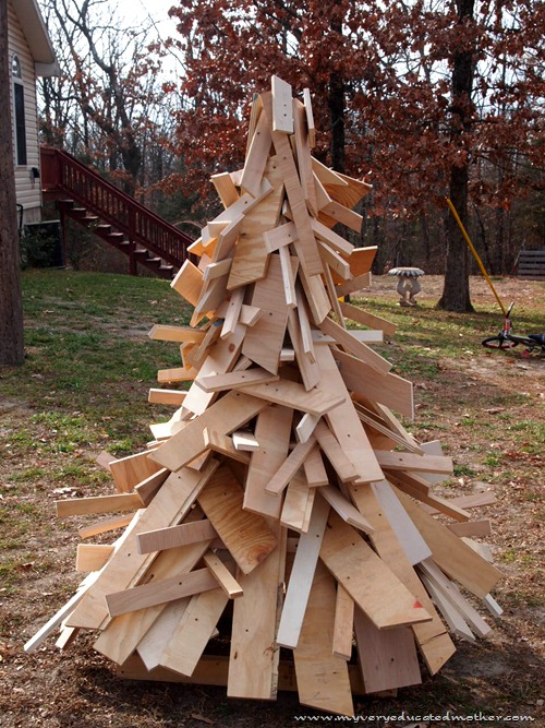 www.myveryeducatedmother.com Anthro-Insprired Scrap Wood Tree