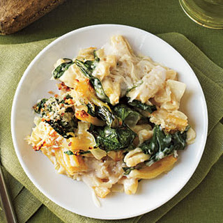 Baked Pasta with Spinach, Lemon, and Cheese
