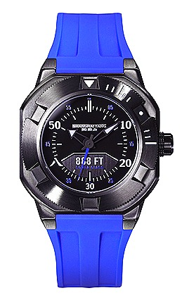 Shanghai Tang Scuba Class 888 Watch in Gun Metal and Royal Blue