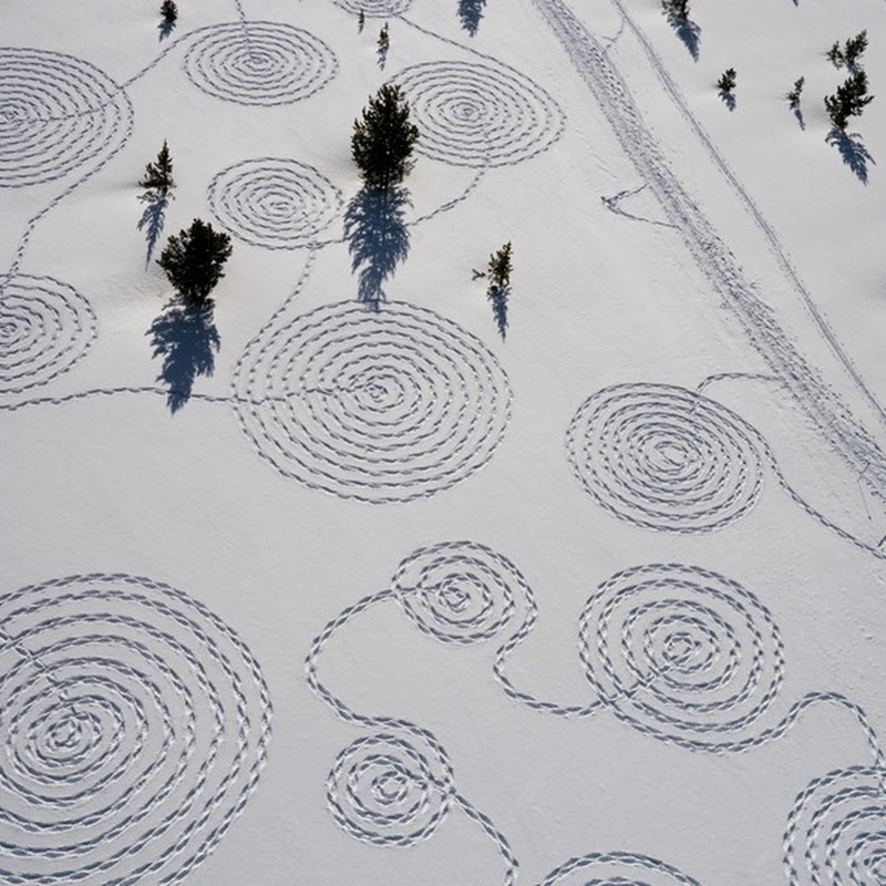 Large Scale Snow Drawings by Sonja Hinrichsen