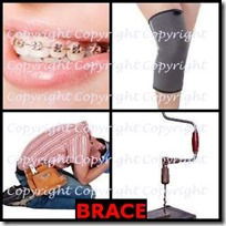BRACE- 4 Pics 1 Word Answers 3 Letters